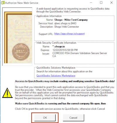 Connecting QuickBooks Desktop to Shogo – SHOGO Knowledge Base